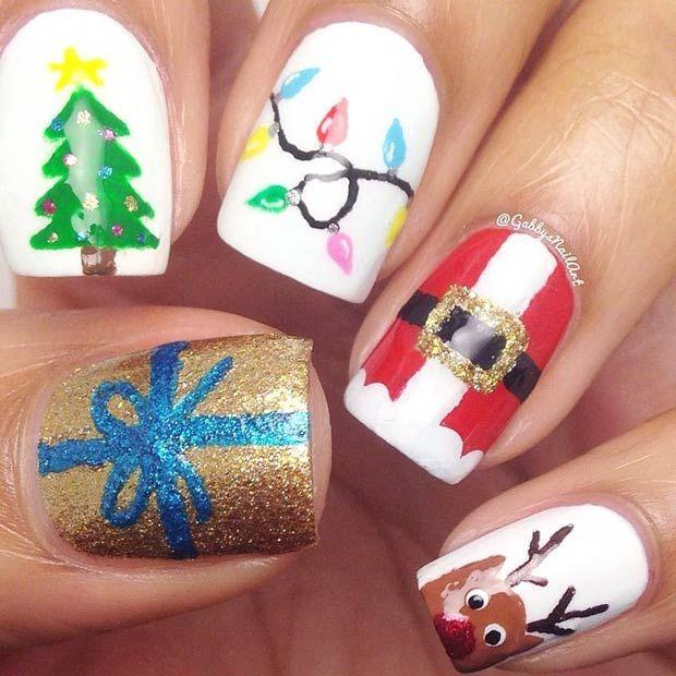 31 christmas nail art design ideas christmas nail art designs 31 christmas nail art design ideas prinsesfo Image collections