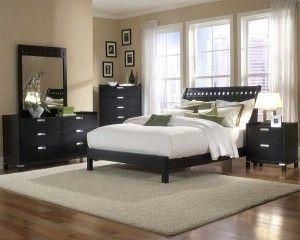 schlafzimmer dunkles holz, schlafzimmermöbel aus holz