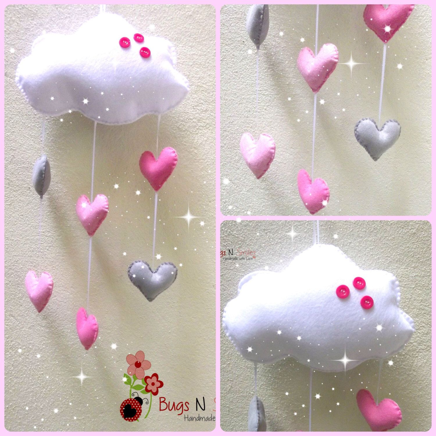 Baby cribs for free - Baby Mobile Nursery Mobile Crib Mobile Cot Mobile Baby Mobiles Nursery Decor Cloud Mobile Baby Girl Mobile Felt Mobile