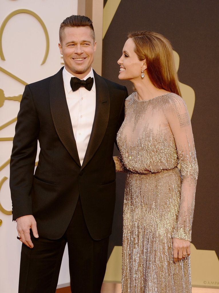 Angie Cheers Brad To His First Oscar Brad And Angelina Brad Pitt And Angelina Jolie Brad And Angie