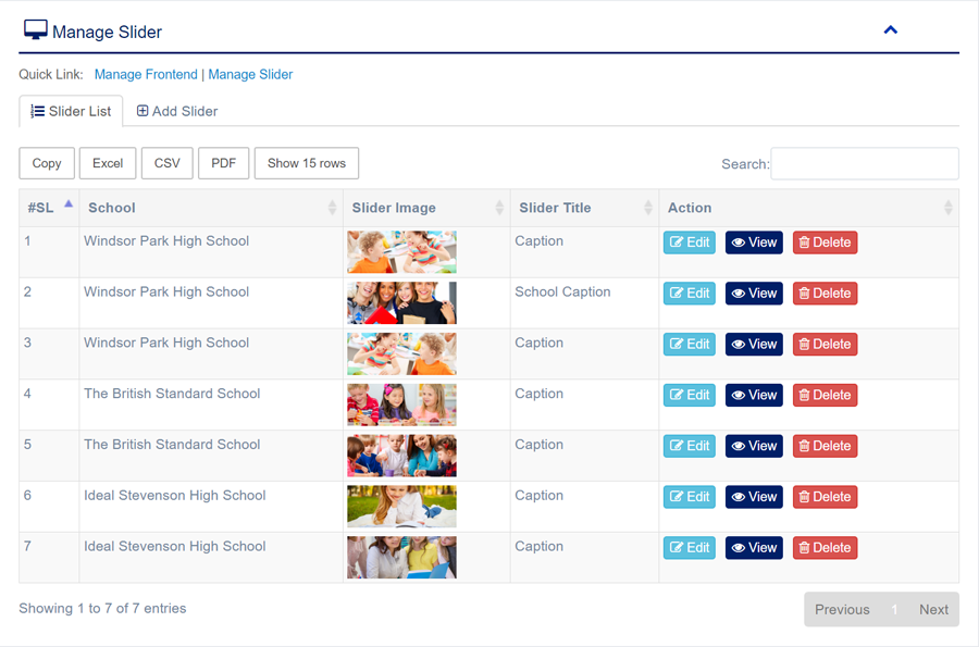 Global - Multi School Management System Express | Graphic