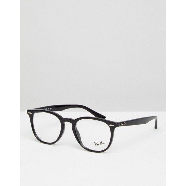 0RX7159 Wayfarer Clear Lens Glasses In Black 50mm - Black Ray-Ban 3EfGo