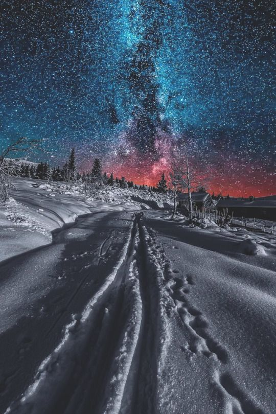 Mystical Night Landscape Night Sky Photography Nature Photography