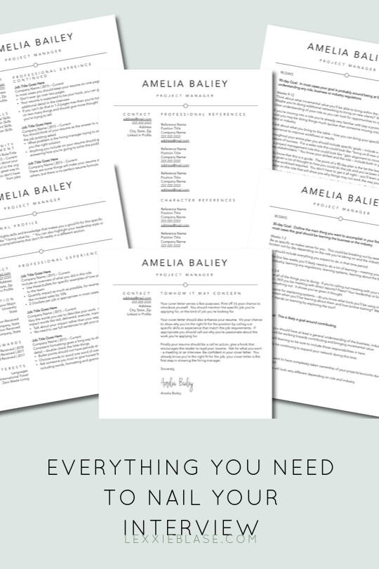 Interview Template Bundle Resume With Optional Page 2 Cover Etsy Resume Writing Services Resume Design Free 90 Day Plan
