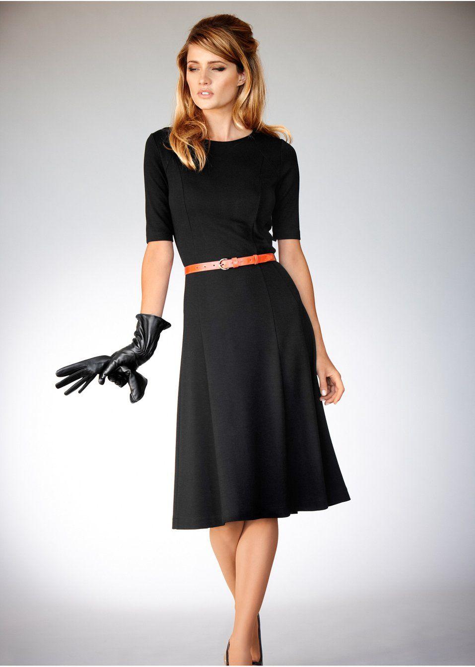 31fb27629 Vestido de malha preto pedir on-line - bonprix.de