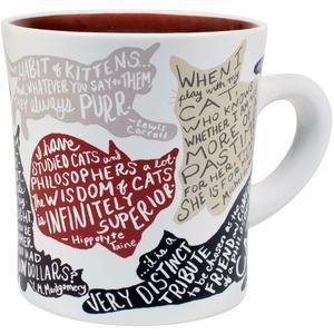 Literary Cat Mug