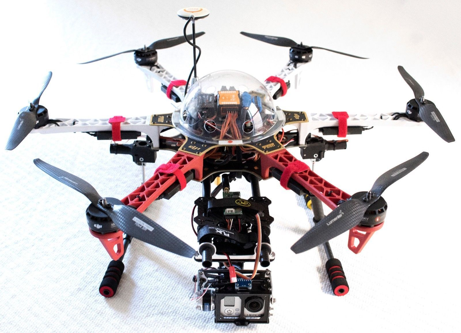 Custom DJI f550 Hex. DJI Motors. Carbon Props. NAZA-M V2. Gimbal. Case  Extras | Aerospace, Aerospace engineering, Engineering