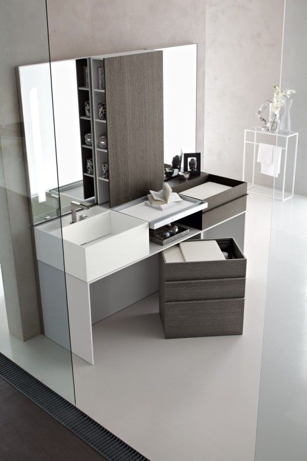 Bathroom, Modern Vanity Units Dor Modern Italian Bathroom Design Ideas With  White Washbasin Cabinet Design With Stainless Faucet And Glass Wall For  Modern ...