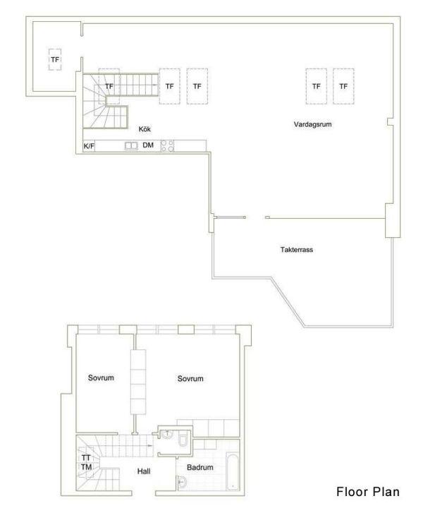 Maisonette-Wohnung-moderne-innenarchitektur-stockholm