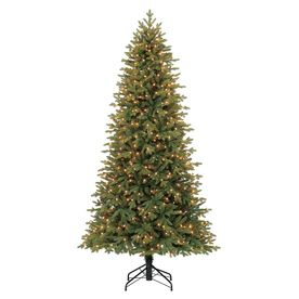 Shop Holiday Living 7 5 Ft Pre Lit Norway Spruce Artificial Christmas Tree With Slim Artificial Christmas Trees Lowes Christmas Trees Artificial Christmas Tree