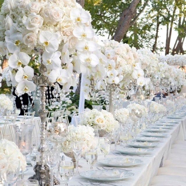 white flower arrangements pinterst | White flower table arrangement | LUX Hotel Stories | Pinterest