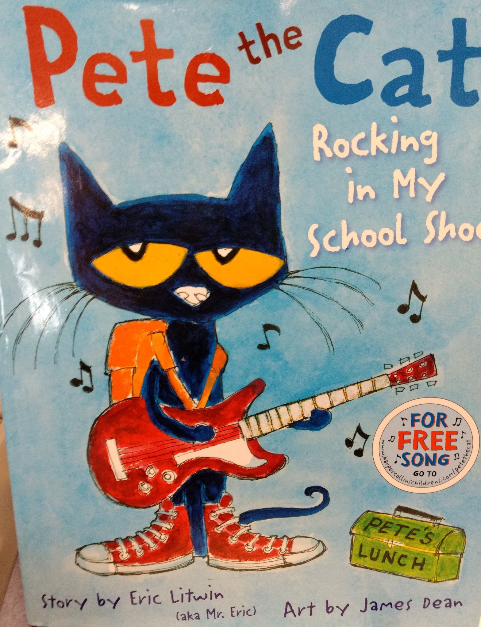 Childrens book review pete the cat rocking in my school