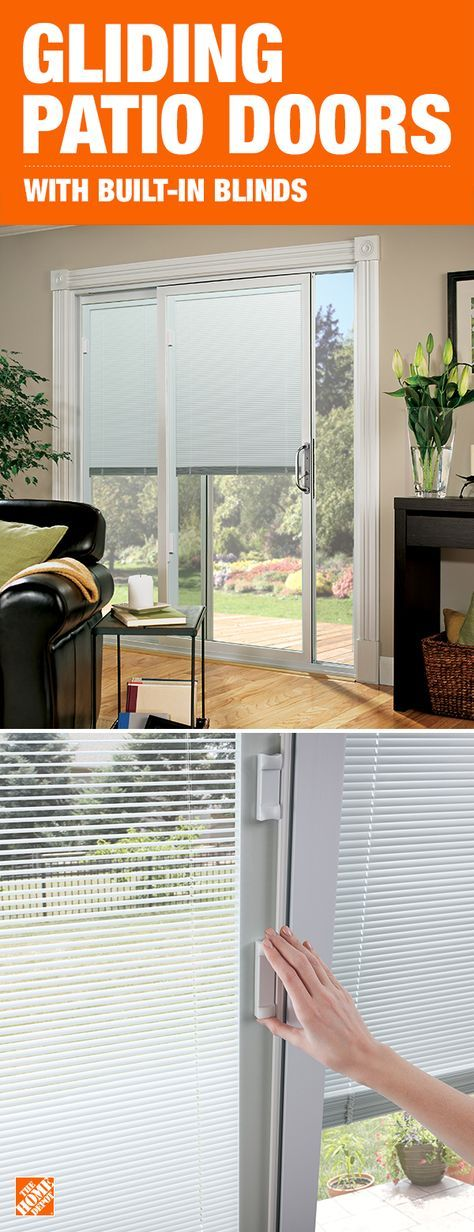 Blinds Between The Glass Puts Privacy At Your Fingertips And Makes Cleaning A Breeze Gliding Patio Doors With Built In Craftsman Patio Doors Patio Doors Home