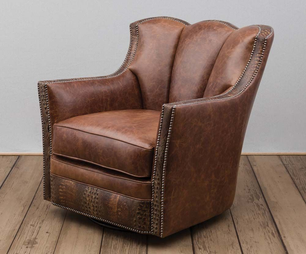 Arizona Swivel Chair Western Accent Chairs - Our customers tell us that  this is one of the most comfortable chairs they have ever owned.