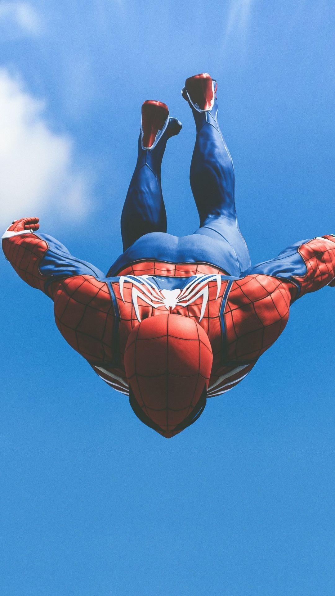 Jump Video Game Spider Man Ps4 1080x1920 Wallpaper Spiderman