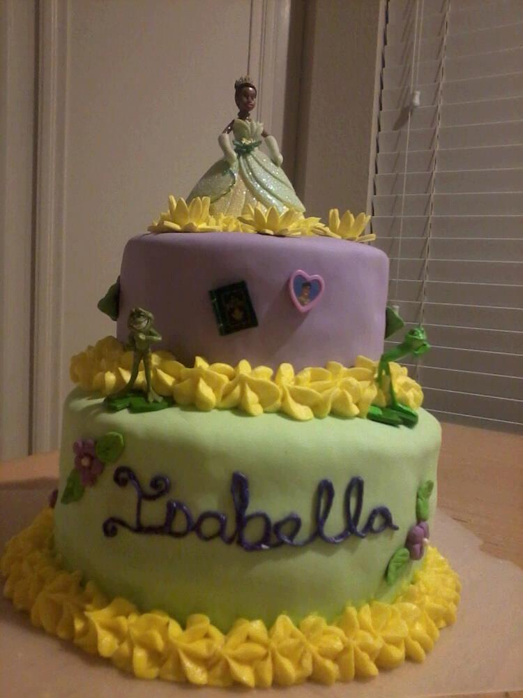 #princess and the frog #cake