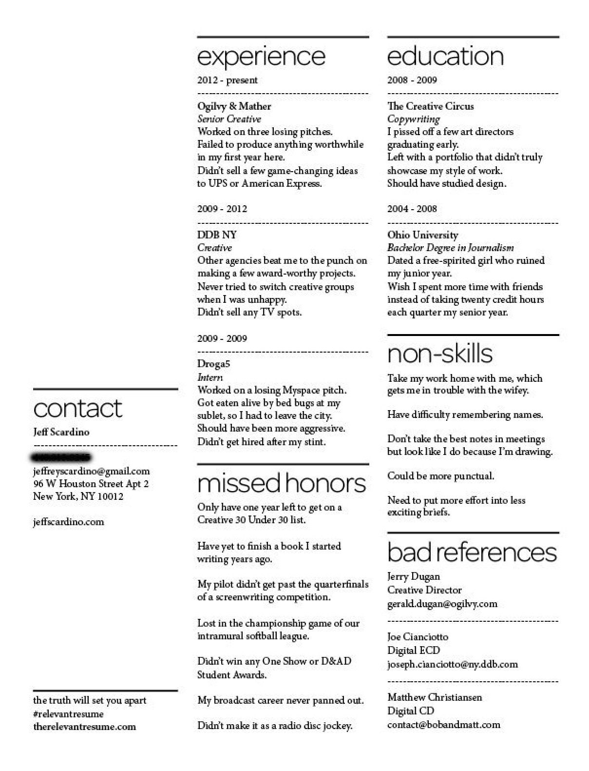 This Innovative Resume Got This Person 8 Job Offers Products I
