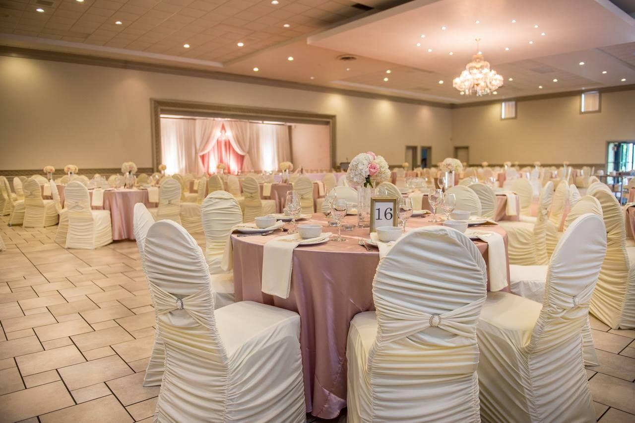 blush and ivory wedding decor