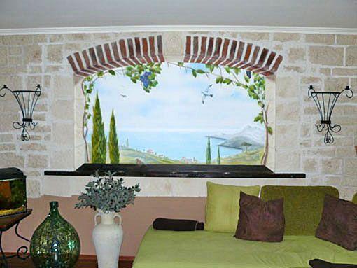 Wandmalerei Wohnzimmer