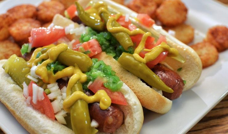 Why should ketchup and mustard have all the #fun? Try one of these #unique #hotdog toppings, listed by Bustle to #celebrate #NationalHotDogMonth!   #bread #organic #healthy #natural #family #bakery #school #delicious #toast #sandwich #food #health #recipe #recipes #cooking #Cincinnati #local #giving #dinner #lunch #foodie