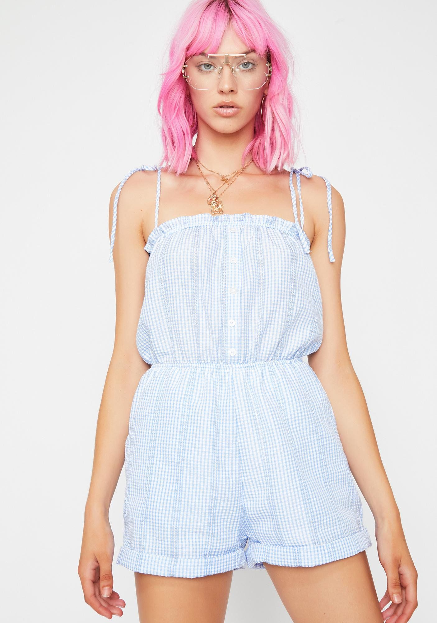0c876b13 Sky In The Hamptons Gingham Romper in 2019 | girls fashion | Rompers ...