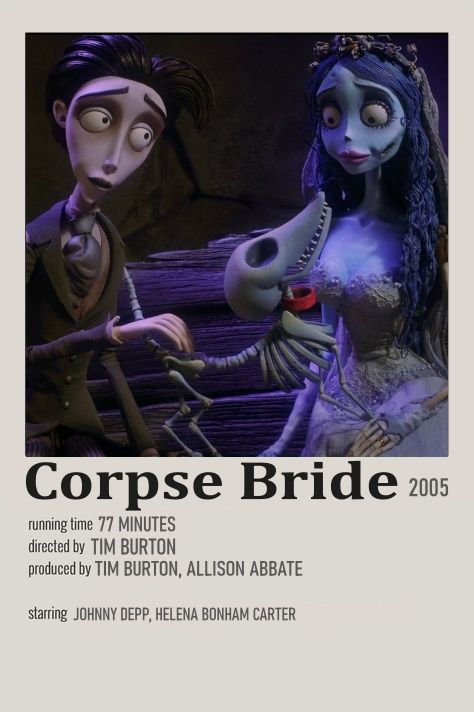 Corpse Bride mp Movie Minimalist
