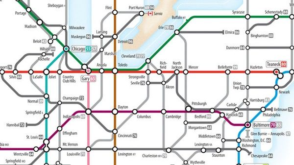 Interstate as subway system