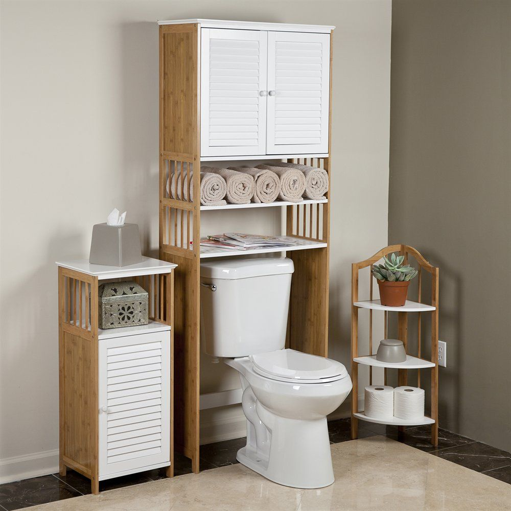 Awesome Bamboo Over The Toilet Cabinet #5 - Danya B WCH1063 Bamboo Over The Toilet Étagère | ATG Stores