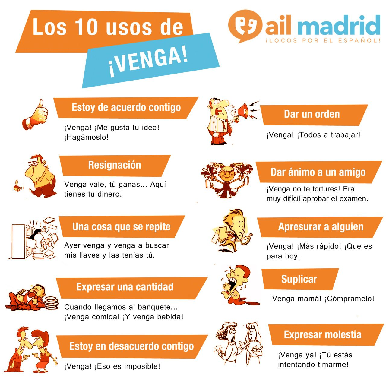 Venga Come On Everyone Let S Learn Spanish If You Have Ever Been To Spain You Ll Know They