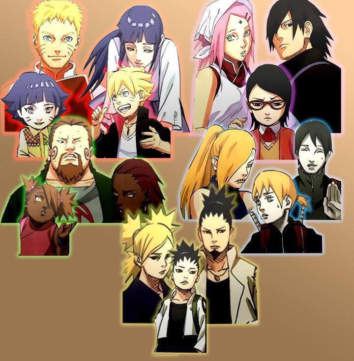 Naruto Characters And Their Children From The New Upcoming Events