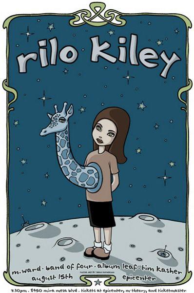 """Rilo Kiley"" (as yet unframed) by Tara McPherson"