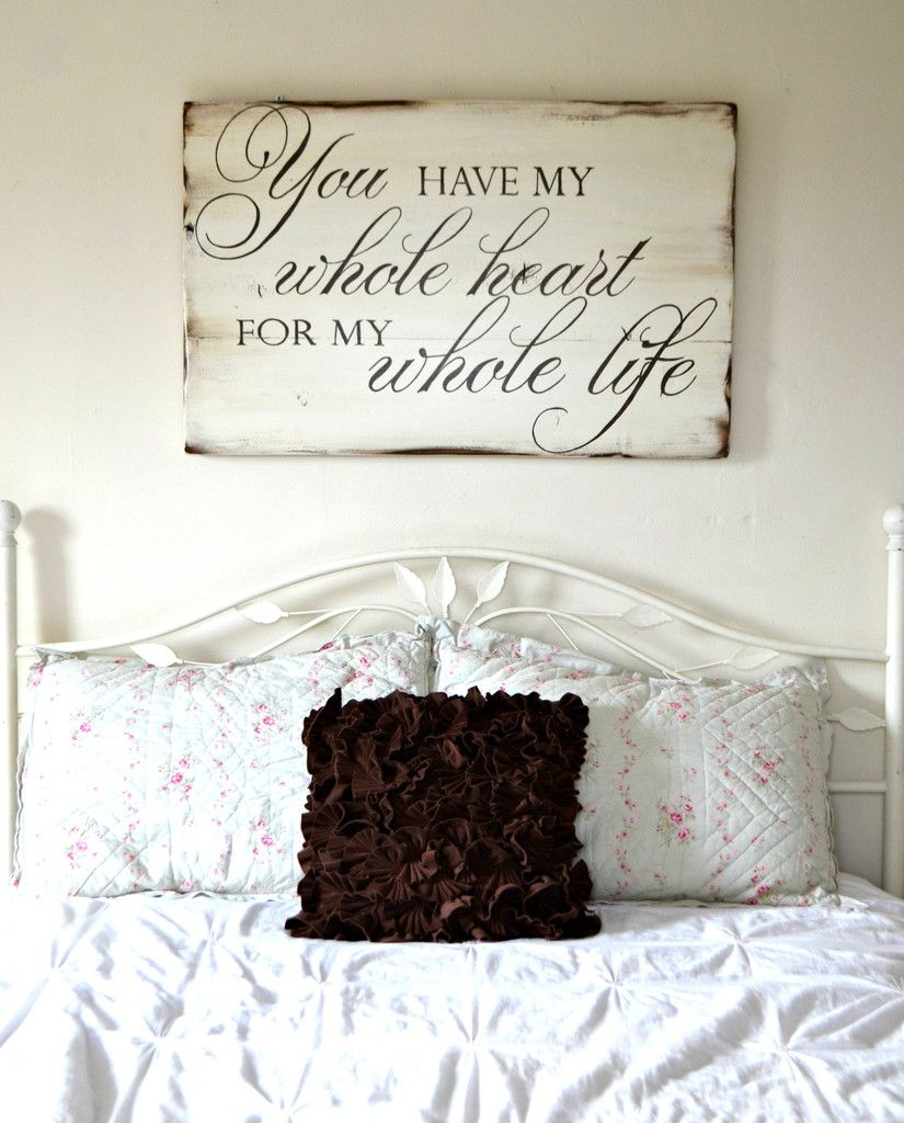 Whole Heart Sign Wood signs, Woods and Bedrooms