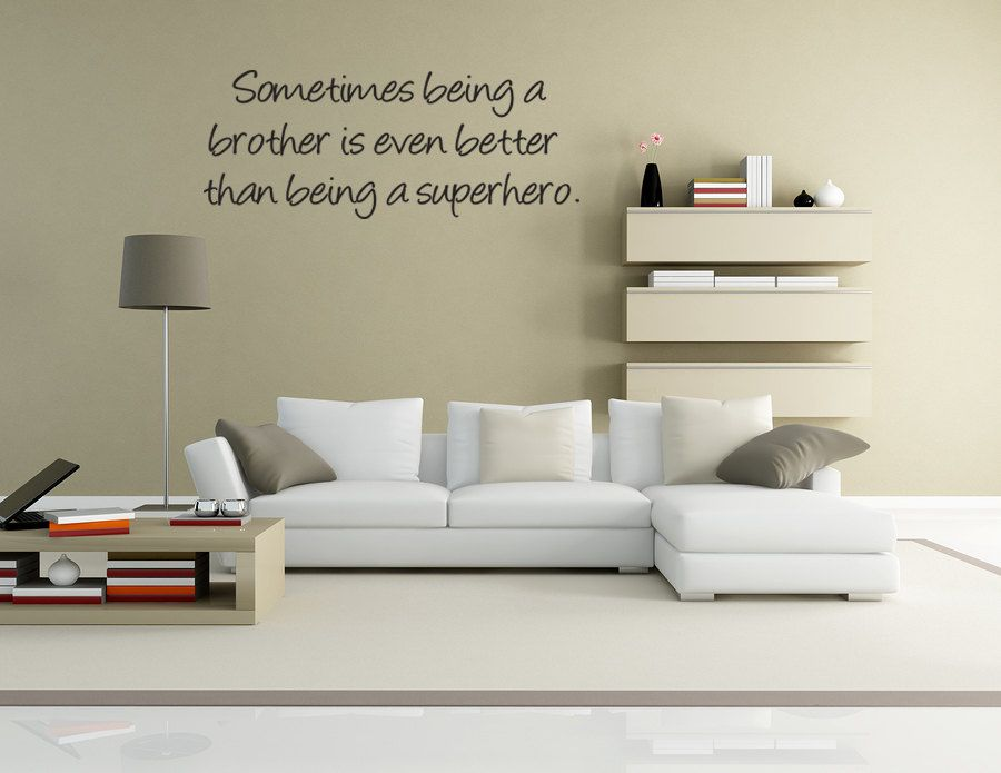 Brothers Superhero Wall Quote Decor Wall Decal Art V - Superhero wall decals for kids roomssuperhero wall decal etsy