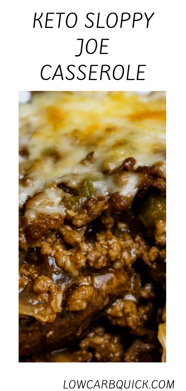 Cheesy Sloppy Joe Casserole (keto) images