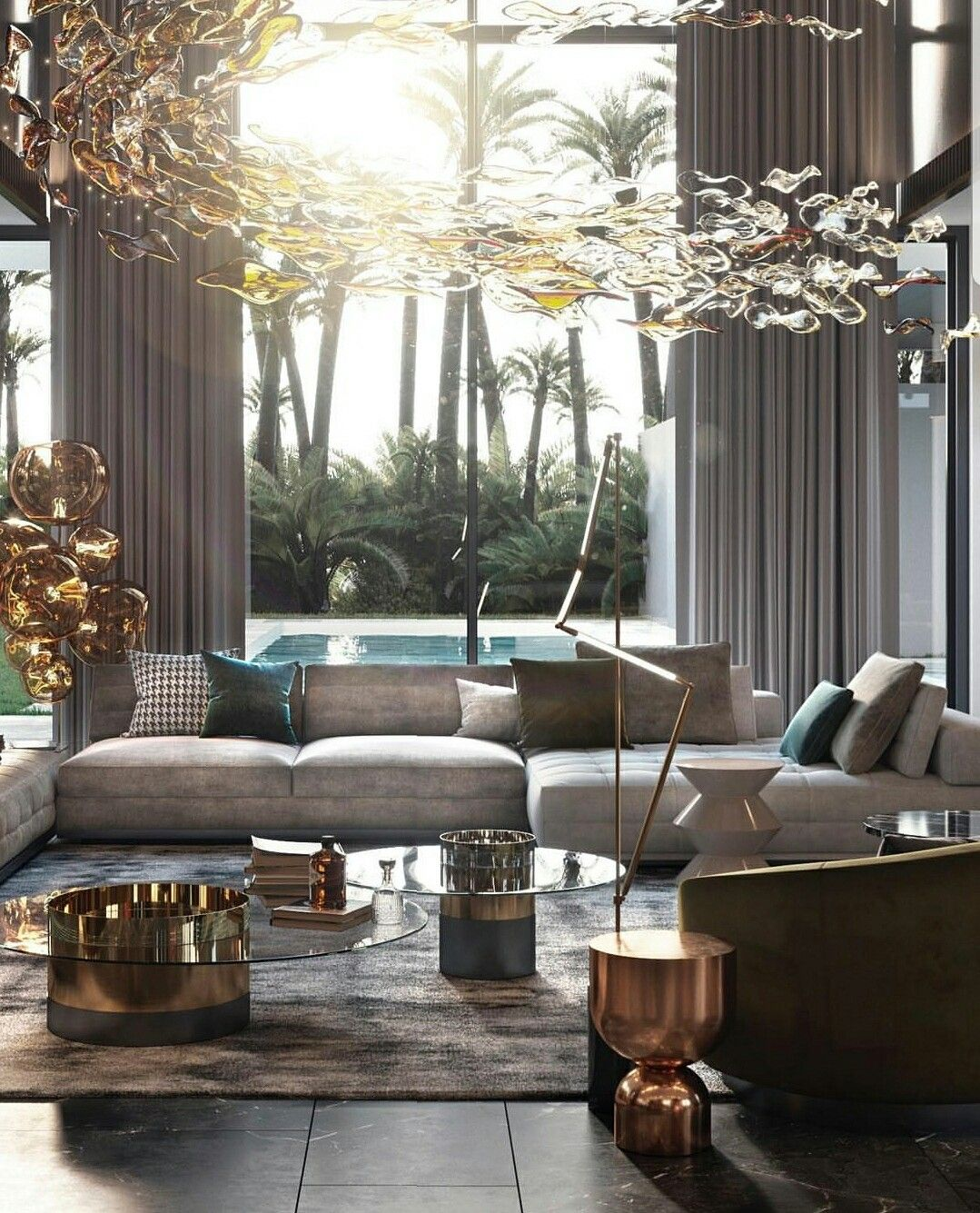 Pin by Zineb Nouba on luxury living  Modern living room interior