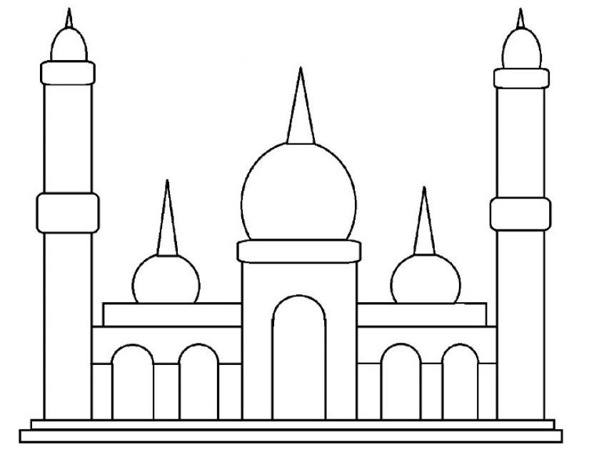 26 Gambar Kartun Membangun Masjid Di 2020 Kartun Gambar Warna