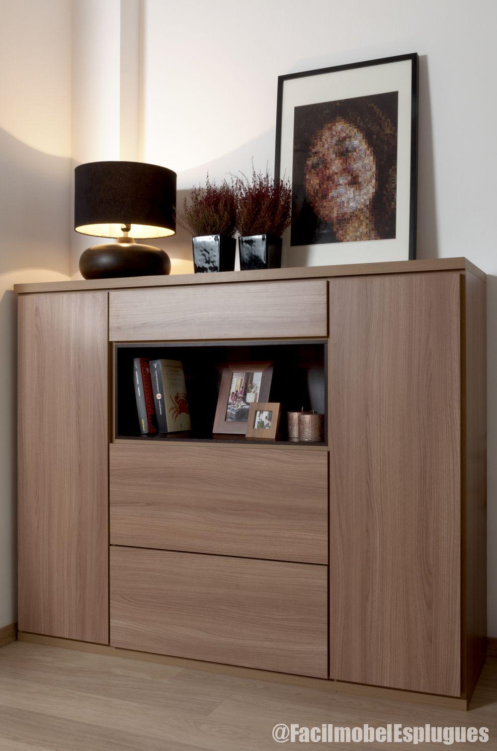 Mueble Servicio De Mesa Ajustado A Columna En Madera Nogal Con  # Muebles Volumen