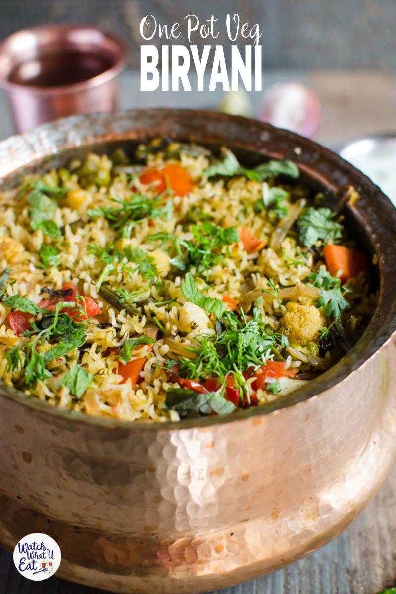 One Pot Vegetable Biryani Recipe Veg Biryani Biryani Healthy