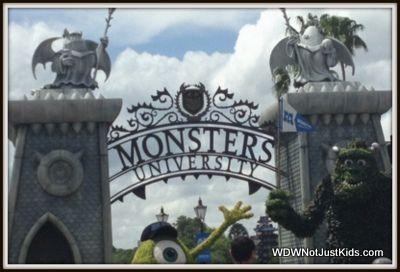 Monsters University at Flower and Garden Festival, April 2013 on disneybloggers.blogspot.com