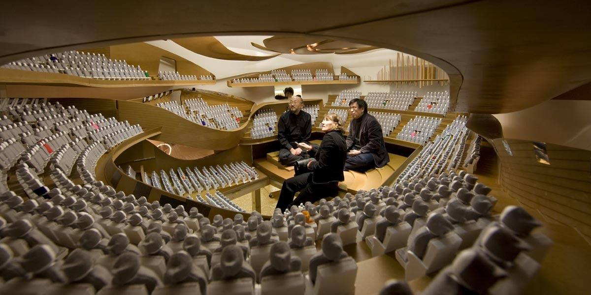 Le parti pris acoustique de la future salle symphonique brigitte m tra archi - Brigitte metra architecte ...