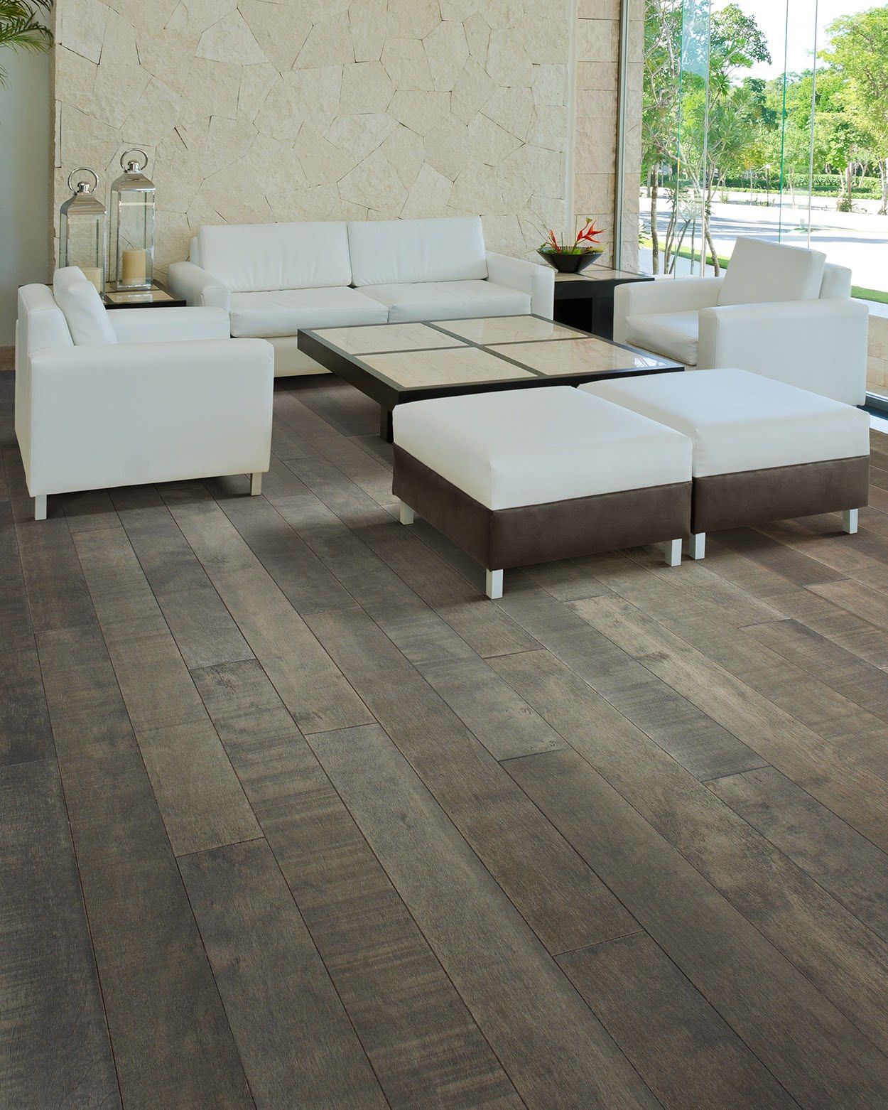 Summer Storm Is A Stunning Color Way Featuring Varied Grey Tones And Natural Saw Marks To Accent The Authentic Character Of The Woo Home Decor Home Flooring