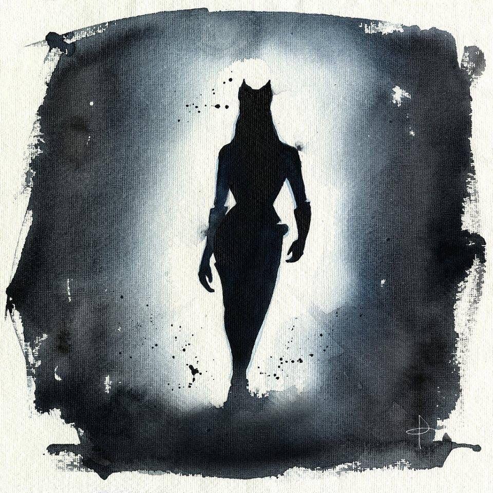 Catwoman en acuarela