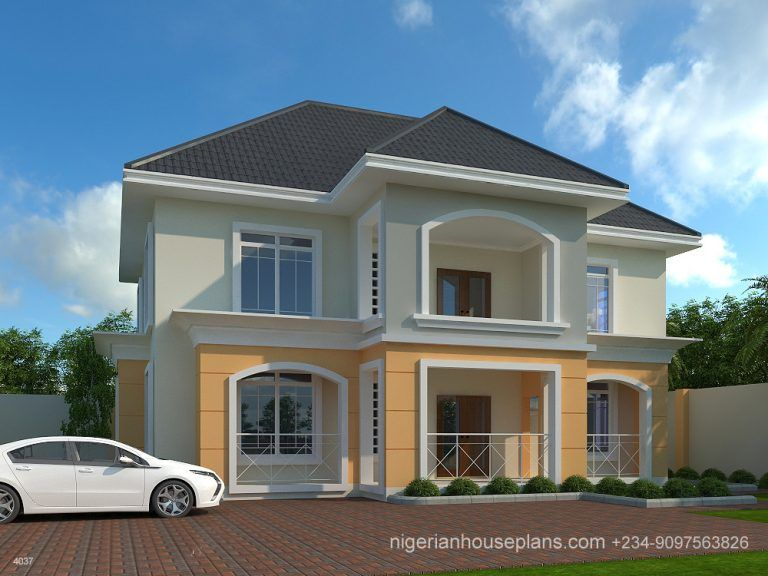 4 Bedroom Duplex Ref 4037 Nigerianhouseplans Duplex House