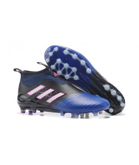 online store c433e 70d34 Adidas ACE 17 PureControl AG CÉSPED ARTIFICIAL Botas De Fútbol Azul Negro Blanco  Rosa