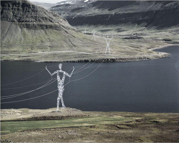 Power giants - electricity pylons. Stunning design.