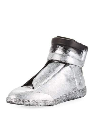 71d3603fb87 Future Glitter Leather High-Top Sneaker | Products | Sneakers ...