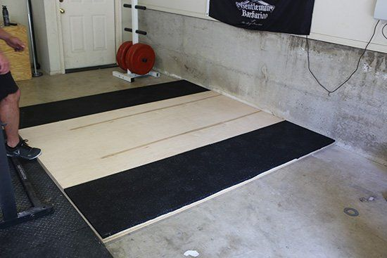 How to build a weightlifting platform gym at home gym crossfit