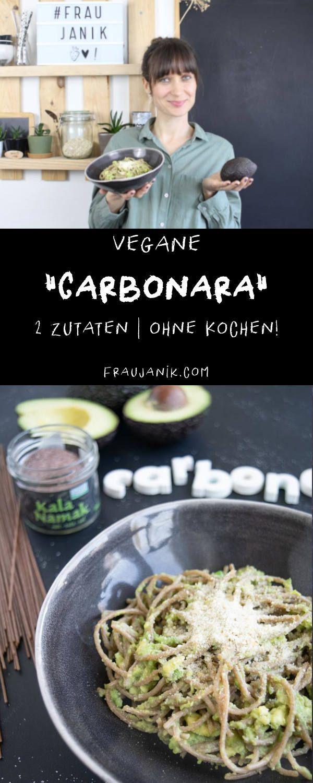vegane Avocado Carbonara | 2 Zutaten -
