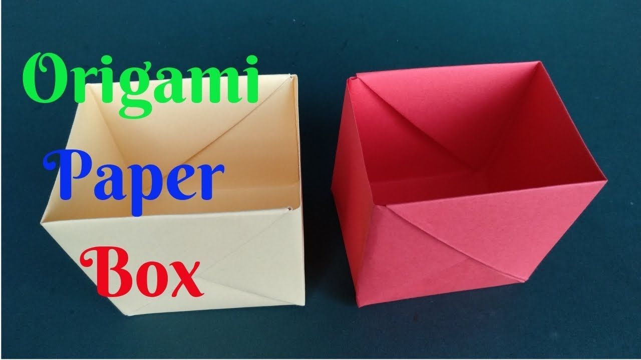 How To Make A Paper Box How To Make Origami Box 2 Home Diy Crafts P How To Make Origami Diy Crafts Paper Flowers Paper Crafts