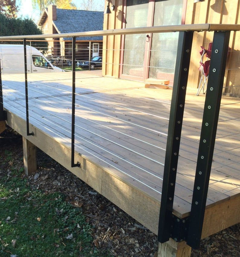 Cable rail deck posts in 2020 Deck posts, Diy deck